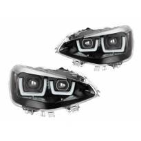 LED фарове Osram за BMW серия 1 F20,F21 2011-2015 с черна основа за модела с халогенни фарове