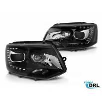 Комплект тунинг DRL фарове за VW Transporter T5 2010-2015 с черна основа, ляв и десен