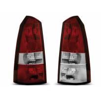 Комплект кристални стопове за Ford FOCUS 1998-2004 комби с червена и бяла основа, ляв и десен