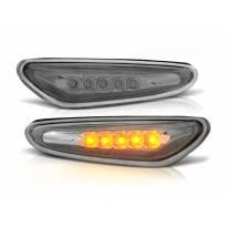 Комплект странични LED мигачи за BMW серия 3 E46 седан/комби 2001-2005 с хром основа ляв + десен