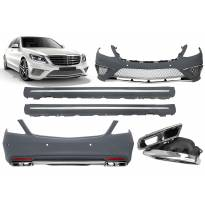 AMG bodykit type S65 for Mercedes S class W222 after 2013 year with PDC for long base