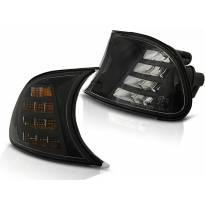 Комплект тунинг LED мигачи към фара за BMW серия 3 E46 купе/кабрио 1998-2001 опушени ляв + десен