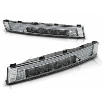 Комплект тунинг LED мигачи в бронята за VW Passat B6 2005-2010 с хром основа ляв + десен