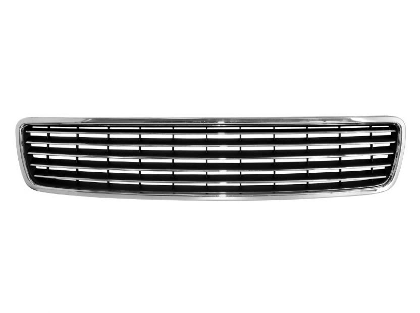 Chrome/Black grille without emblem for Audi A4 1994-2000 - 1