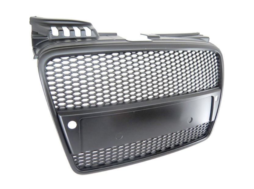 RS Black grille without emblem for Audi A4 2004-2008 with PDC - 3