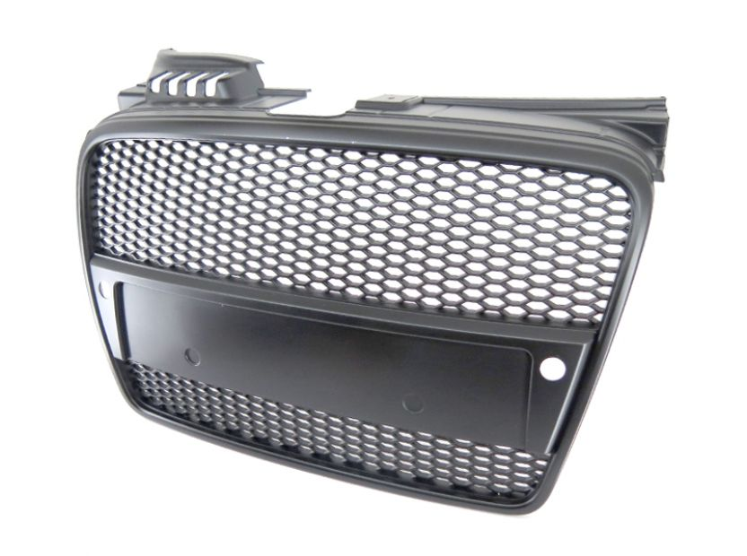 RS Black grille without emblem for Audi A4 2004-2008 with PDC - 2