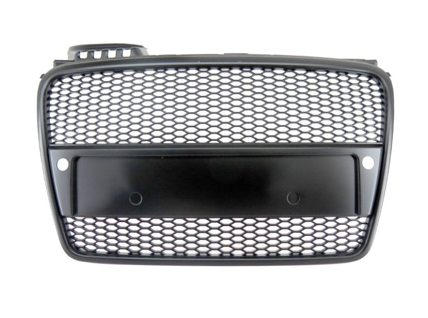 RS Black grille without emblem for Audi A4 2004-2008 with PDC - 1